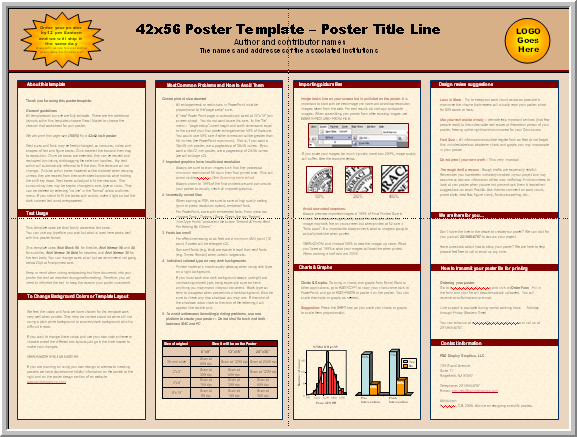 Poster template for power point