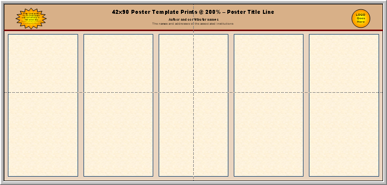 powerpoint poster template 90 x 120 - posters4research free templates