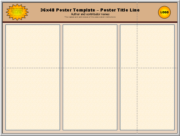 Posters4Research - Free PowerPoint Scientific Poster Templates