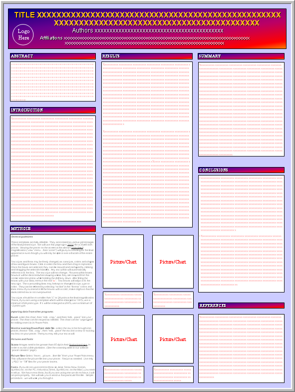 Posters4research free powerpoint scientific poster templates for Poster templates free download