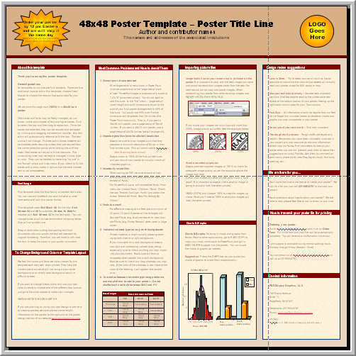 Posters4research free powerpoint scientific poster templates microsoft powerpoint 2007 11 pptx 48x48 toneelgroepblik Gallery