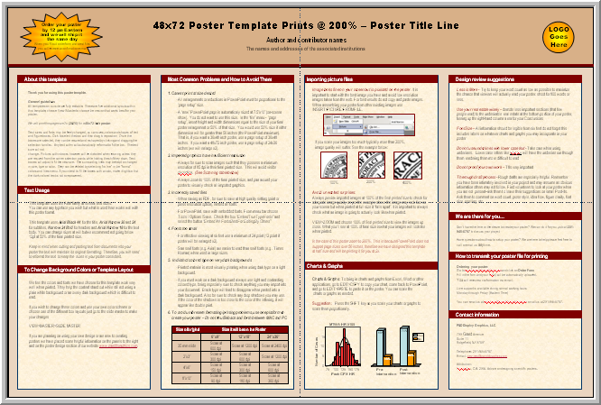 Posters4research free powerpoint scientific poster templates microsoft powerpoint 97 2003 ppt 48x72 toneelgroepblik Images